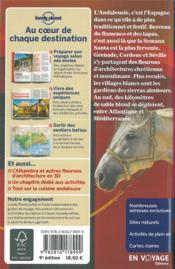 Andalousie (9e édition) - 4ème de couverture - Format classique