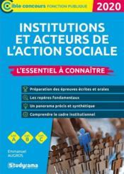 Les institutions et acteurs du social (édition 2020) - Couverture - Format classique