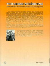 Touaregs Nigeriens - 4ème de couverture - Format classique
