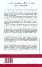 L'Action Artistique De La France Dans Le Monde - 4ème de couverture - Format classique