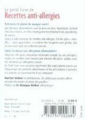 Recettes anti-allergies - 4ème de couverture - Format classique