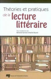 Théories et pratiques de la lecture littéraire - Intérieur - Format classique