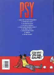 Les psy t.9 ; on se calme - 4ème de couverture - Format classique