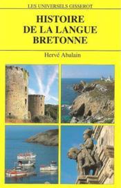 Histoire De La Langue Bretonne - Couverture - Format classique