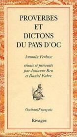 Proverbes et dictons du pays d'Oc - Couverture - Format classique