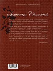 Souvenirs chocolates - 4ème de couverture - Format classique