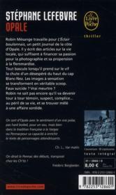 Opale - 4ème de couverture - Format classique