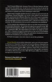 Dans le secret des présidents ; CIA, Maison-Blanche, Elysée : les dossiers confidentiels 1981-2010 - 4ème de couverture - Format classique