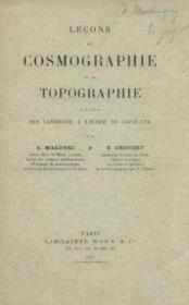 Leçons de cosmographie et de topographie, à l'usage des candidats à l'Ecole de Saint-Cyr - Couverture - Format classique