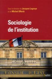 Sociologie de l'institution - Couverture - Format classique