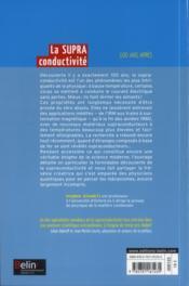 La supraconductivité ; 100 ans après - 4ème de couverture - Format classique