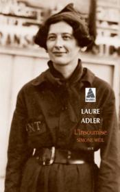 L'insoumise : Simone Weil - Couverture - Format classique