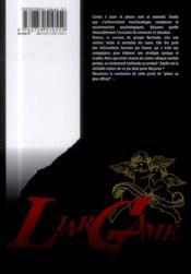 Liar game t.16 - 4ème de couverture - Format classique
