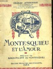 Montesquieu Et L'Amour - Couverture - Format classique