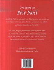 Une lettre au Pére Noël - 4ème de couverture - Format classique