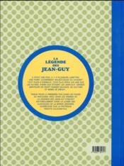 La légende des Jean-Guy - 4ème de couverture - Format classique