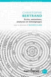 Christophe Bertrand - Couverture - Format classique