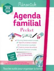 Agenda familial Mémoniak pocket (édition 2018/2019) - Couverture - Format classique