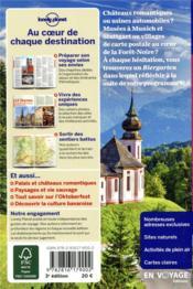 Munich, la bavière et la forêt noire (3e édition) - 4ème de couverture - Format classique