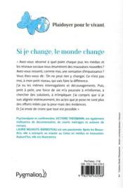 Si je change, le monde change ; l'effet papillon - 4ème de couverture - Format classique