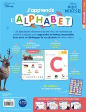 J'apprends l'alphabet avec la Reine des Neiges 2 - 4ème de couverture - Format classique