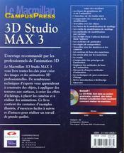 Le Macmillan ; 3d Studio Max 3 - 4ème de couverture - Format classique