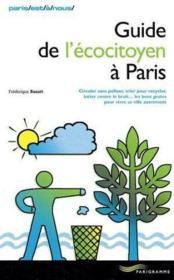 Guide de l'écocitoyen à Paris - Couverture - Format classique