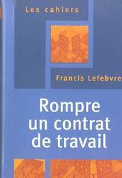 Rompre un contrat de travail - Intérieur - Format classique