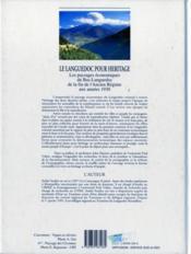 Languedoc Pour Heritage - 4ème de couverture - Format classique