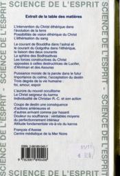 Le christianisme ésotérique ; la direction spirituelle de l'humanité - 4ème de couverture - Format classique