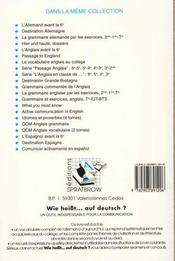 Wie heisst auf deutsch - 4ème de couverture - Format classique