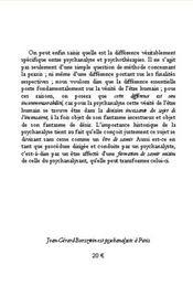 Sur La Difference Entre La Psychanalyse Et Les Psychotherapies - 4ème de couverture - Format classique