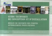 Règles de sécurité des portes automatiques pour piétons. guide technique de conception et d'installation - Intérieur - Format classique