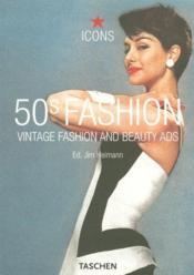 50's fashion ; vintage fashion and beauty ads - Couverture - Format classique