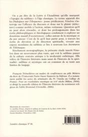 Fénelon et le sublime ; littérature, anthropologie, spiritualité - 4ème de couverture - Format classique