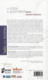 Corps gourmand ; d'Héraclès à Alexandre le Bienheureux - 4ème de couverture - Format classique
