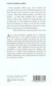 Contre La Barbarie Routiere - 4ème de couverture - Format classique