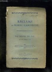 Reclams De Biarn E Gascougne N° 1 Et 2 Octobre Novembre 1925. Las Hestes De Pau. Texte En Gascon. - Couverture - Format classique