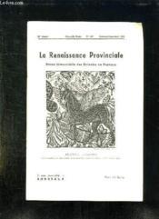 La Renaissance Provinciale N° 109 Fevrier Mars Avril 1955. Le Cheval Par Raoul Dufy. - Couverture - Format classique