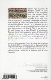 Les petites fleurs de sainte marguerite de hongrie - 4ème de couverture - Format classique