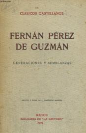 Generaciones Y Semblanzas - Couverture - Format classique