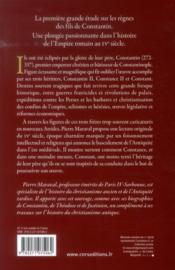 Les fils de Constantin - 4ème de couverture - Format classique