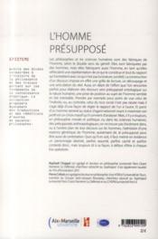 Homme presuppose - 4ème de couverture - Format classique