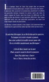 Dictons proverbes et autres sagesses de Bretagne - 4ème de couverture - Format classique
