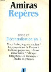 Amiras Reperes N°1 - Dossier Decentralisation An 1 - Couverture - Format classique