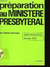 Preparation Au Ministere Presbyteral - Couverture - Format classique