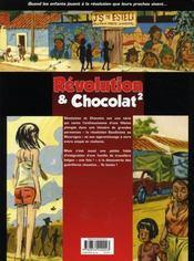Révolution et chocolat t.2 - 4ème de couverture - Format classique