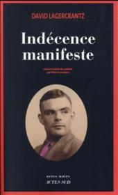 Indécence manifeste - Couverture - Format classique