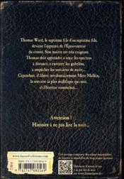 L'épouvanteur T.1 ; l'apprenti épouvanteur - 4ème de couverture - Format classique