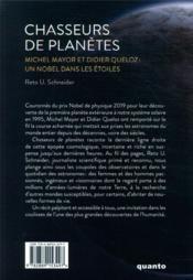 Chasseurs de planètes ; Michel Mayor et Didier Queloz : un nobel dans les étoiles - 4ème de couverture - Format classique
